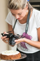 Girl with camera foodie