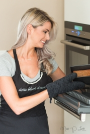 Girl baking banana bread