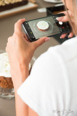 carrot cake with topping camera