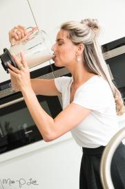 Girl drinking smoothie
