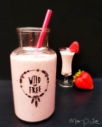 Pink Protein Strawberry Smoothie