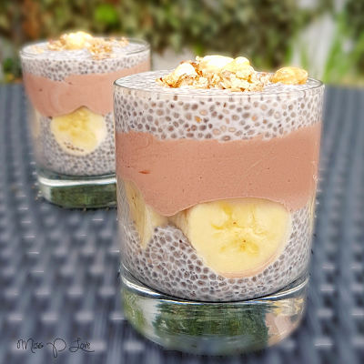 Chia pudding cacao banana almondmilk cruesli Healthy Lunch dessert Breakfast