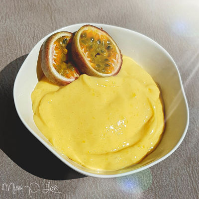 Mango Nicecream passionfruit Healthy Lunch dessert Breakfast