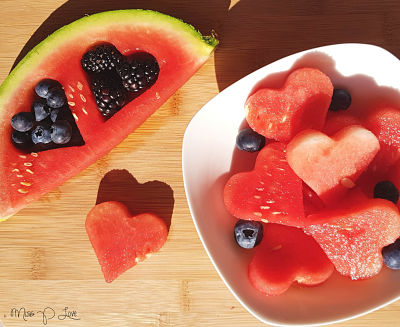 Watermelon bites blackberry blueberry Healthy Lunch dessert Breakfast snack