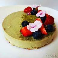 Matcha pie cheesecake strawberry blueberry Healthy Lunch dessert Breakfast