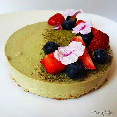 Matcha pie cheesecake strawberry blueberry Healthy Lunch dessert Breakfast
