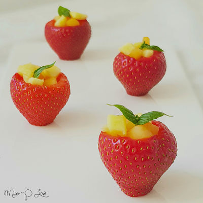 stuffed strawberry mango peach snack Healthy Lunch dessert Breakfast