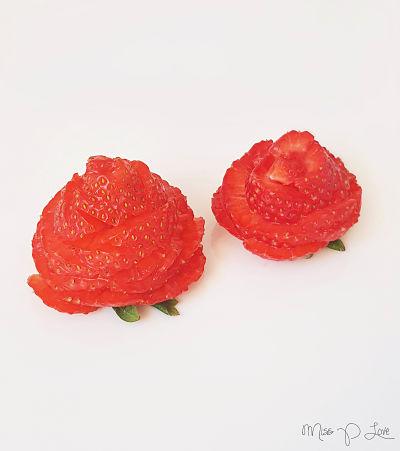 Strawberry rose Healthy Lunch dessert Breakfast