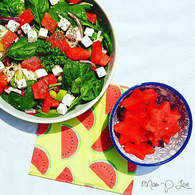 Melon feta salad summer sweet Healthy Lunch dessert Breakfast spinach union