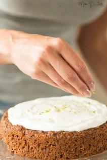 carrot cake with topping