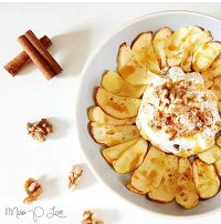 Apple Breakfast Skyr Cinnamon Walnut Dessert