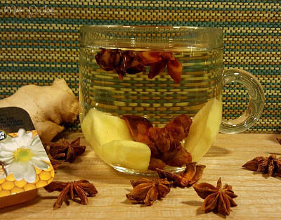 Healthy Tea Ginger Anice Honey Drinks