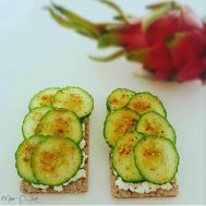 Lunch Cucumber Huttenkase Italian spices