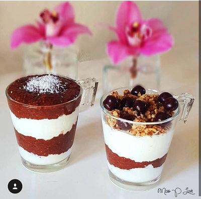 Cacao chia pudding Wheyballs Cruesli Breakfast Dessert Lunch Healthy