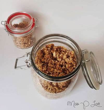 A jar of Cruesli breakfast lunch healthy